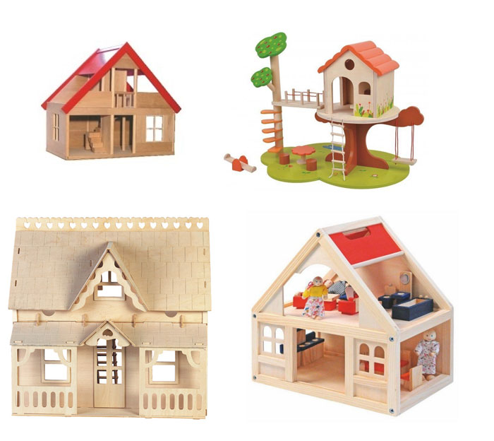 zabawki waldorfskie, domki dla lalek