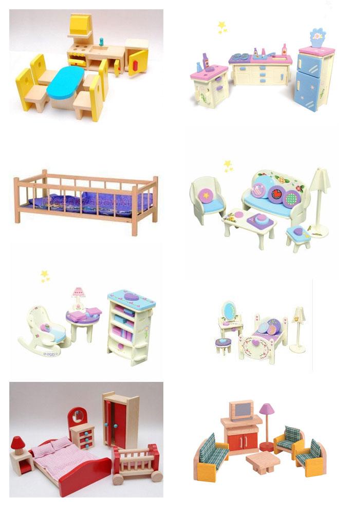 mebelki dla lalek, zabawki waldorfskie