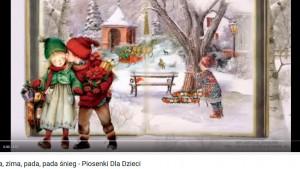 zimowe piosenki dla dzieci, zima zima zima, choinko piękna jak las,