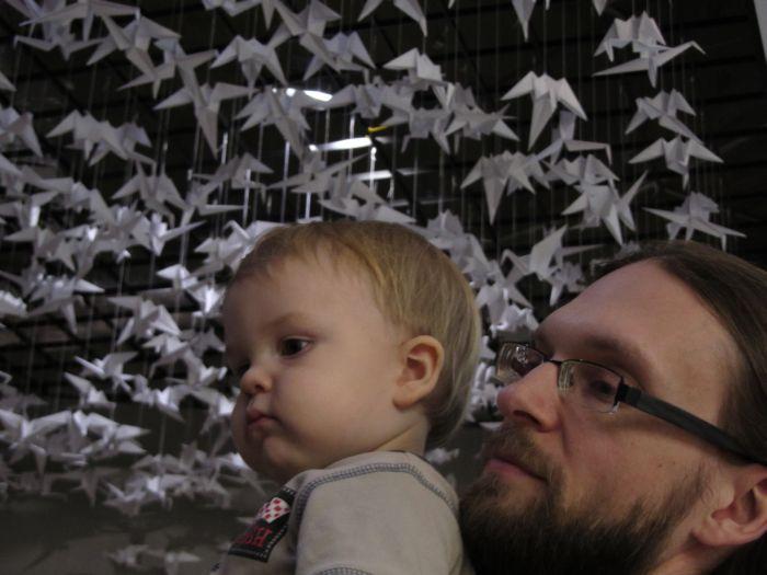 Z tatusiem i żurawiami