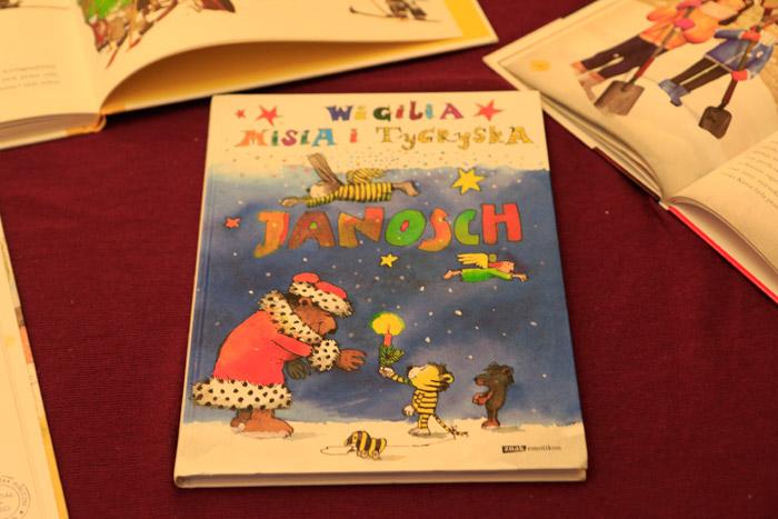 książki o bożym narodzeniu dla dzieci, wigilia misia i tygryska