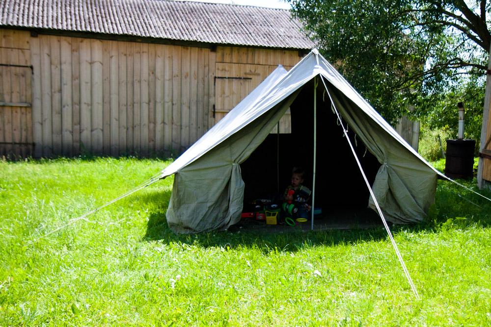 namiot, zabawy dla dzieci na lato