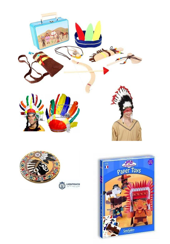 indianie prezent dla pięciolatka, mały indianin