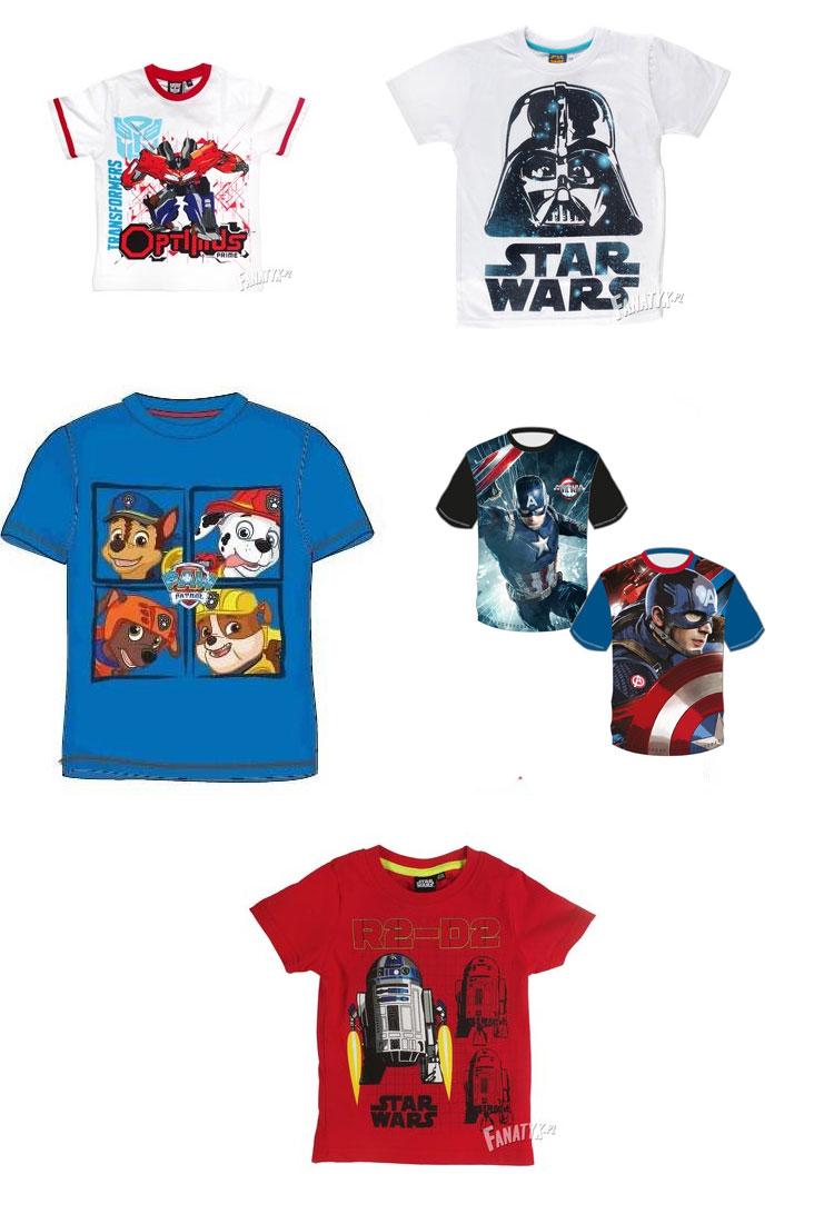 prezent dla pięciolatka, koszulki dla chłopców