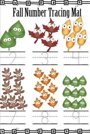 jesień, nauka liczenia, zadania dla dzieci