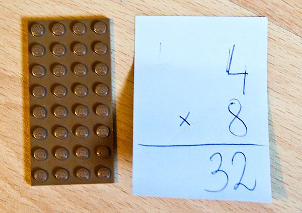 nauka tabliczki mnożenia, lego matematyka