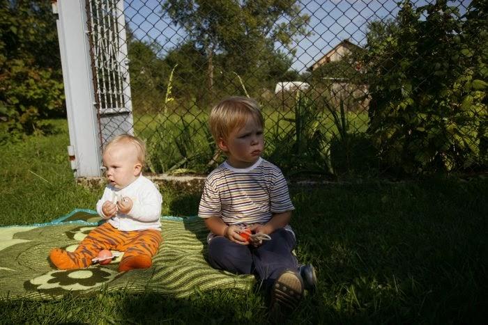 jesień na wsi, jesień z dzieckiem