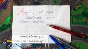 zabawy utrwalające słownictwo z języka angielskiego, angielski dla dzieci