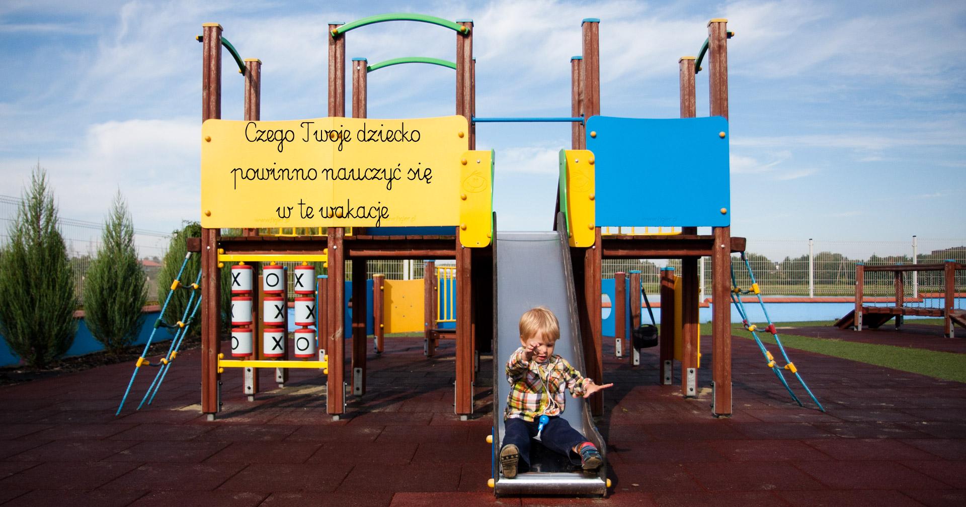 nauka w wakacje, zajęcia dla dzieci na wakacje, nauka na placu zabaw