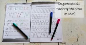 Czy przedszkolaki powinny mieć prace domowe?